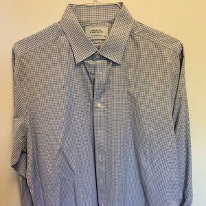 Charles Tyrwhitt Blue Checked Shirt 17.5